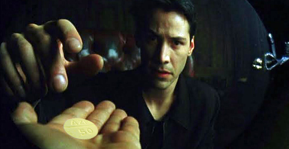 Matrix Neo Chooses The Red Pill